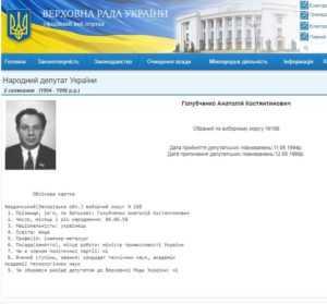 Анатолий Константинович Голубченко – отмывает деньги через госбюджет